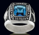 3308-BT Sterling Silver Masonic Square Ring