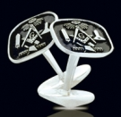 M015 Sterling Silver Masonic Cufflinks