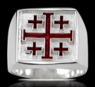 3651 Sterling Silver Jerusalem Cross Ring