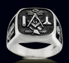 3382 Sterling Silver Masonic Ring