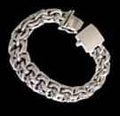 2345Q S. Silver Heavy Bracelet Weight 60 grams