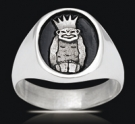 3546 Solid Sterling Silver Order Of the Jesters Ring