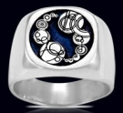 3622 Solid Sterling Silver Dr. Who ring