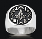 3545 Solid Sterling Silver Masonic Ring