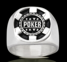 3559 Solid Sterling Silver Poker Chip Ring