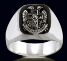 3332 Sterling Silver Double Eagle Masonic Ring