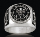 3551 Solid Sterling Silver Imperial Roman Eagle Ring