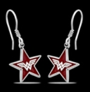 1253 Solid Sterling Silver Wonderwoman Earrings