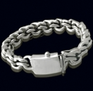 2345a S. Silver Heavy Bracelet Weight 130 grams