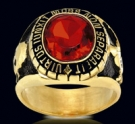 3307R-GP Sterling Silver 18K Gold Plated Masonic Ring