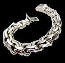 2345W S. Silver Heavy Bracelet Weight 270 grams