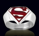 3612R Solid Sterling Silver Superman Ring