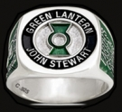 3532 Sterling Silver Earth`s Green Lantern John Stewart Ring