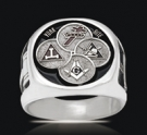 3539 Solid Sterling Silver York Rite Masonic Ring