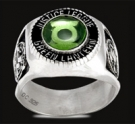 3432 Sterling Silver Justice League Green Lantern Ring