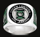 3534 Sterling Silver Earth`s Green Lantern Hal Jordan Ring