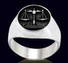 3452 Solid Sterling Silver Lawyer Ring