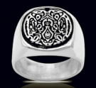 3609 Sterling Silver Quileute Wolf Ring