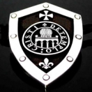 1226 Sterling Silver  Knights Templar Shield Pendant
