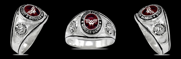 3437-A Sterling Silver Justice League Wonder Woman Ring