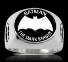 3650 Sterling Silver Batman The Dark Knight Ring