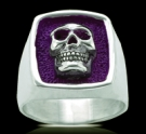 3239v Solid Sterling Silver Phantom Skull Ring