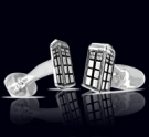 M026 Sterling Silver Dr. Who Cufflinks