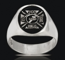 3511 Sterling Silver Knights Templar In Hoc Signo Vinces Ring