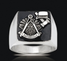 3544 Solid Sterling Silver Past Master Ring
