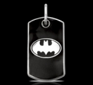 1257 Sterling Silver Batman Pendant