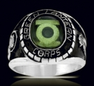 3618 Sterling Silver Green Lantern Corps Ring