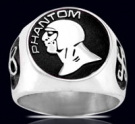 3620 Solid Saterling Silver Phantom Ring