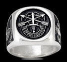 3574 Solid Sterling Silver Special Forces Airborne Ring