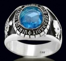 3307-BT Sterling Silver Masonic Oval Ring