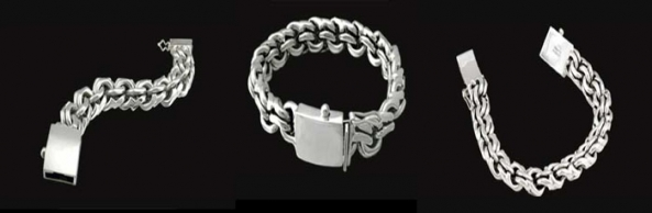 2345 S. Silver Heavy Bracelet Weight 100 grams