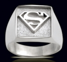 3386 Solid Sterling Silver Superman Ring