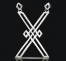 1217 Sterling Silver Saint Andrews Cross Pendant