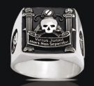 3529 Solid Sterling Silver Masonic Ring