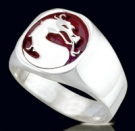 3415 Sterling Silver Dragon Ring