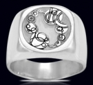 3622B Solid Sterling Silver Dr. Who Ring
