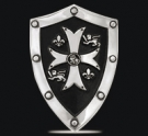 1227 Sterling Silver Knights Templar Shield Pendant