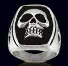 3160 Sterling Silver Phantom Skull Ring