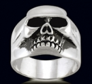 3455 Sterling Silver Keith Richards Ring