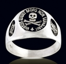 3353 Sterling Silver Skull Masonic Ring