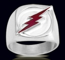 3600B Solid Sterling Silver Flash Ring