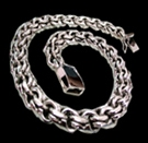2345n4 S.Silver Heavy Necklace Weight 240 grams
