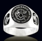 3323 Sterling Silver Noliforas Ire Masonic Ring
