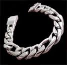 2347b S. Silver Heavy Figaro Bracelet Weight 60 grams