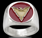 3564 Solid Sterling Silver X-Men Phoenix Ring