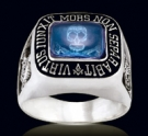 3346-BT Solid Sterling Silver Skull Masonic Ring